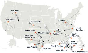 Florida Hospital Organizational Chart Division Map Hca Healthcare