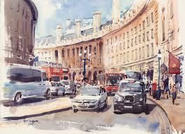 regent street london watercolour