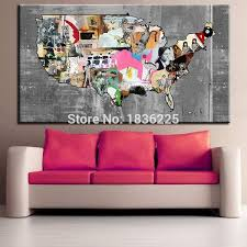 wooden united states wall art unique united states map home decor united states map canvas wall