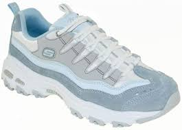 Light Blue Skechers Details About Skechers Womens Dlites Sure Thing Sneaker 13141 Light Blue Grey