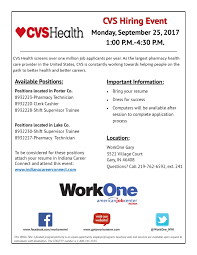 Workone Hiring Event With Cvs