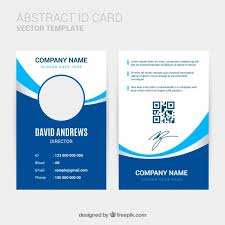 company id card templates abstract id card template with flat design vector free download