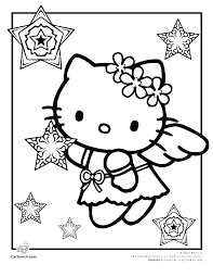 Hello Kitty Coloring Pages That You Can Print Free To Valentines Day