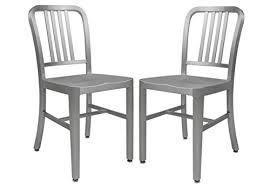 leisuremod modern delmar dining chair set of 2