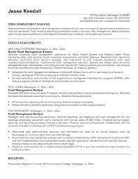 Financial Management Analyst Resume Sample Inspirational Cover