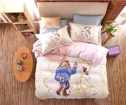 terrific beauty and the beast bedding twin beauty and the beast cartoon printed bedding set for