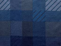 Dark Blue Patterns Plaid Fabric Texture