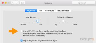 Excel Shortcuts On The Mac Exceljet