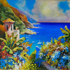 landscapes handmade livemaster handmade painting with the mediterranean