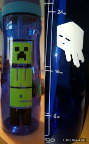 Personalized Minecraft Water Bottle Charsilhouette My Finished