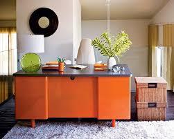 orange home office. orange home office