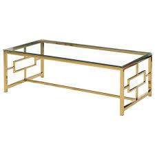 jonas coffee table in walnut and gold