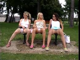 Group pissing outdoor video