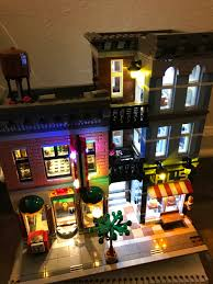 lego lighting. LEGO Set BuildFinally Got The Lighting Up On My Detectives Office. I Can See Modular Sets Becoming An Addiction. Lego