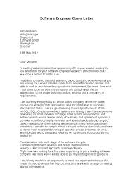 Gallery Of Cover Letter Software Engineer