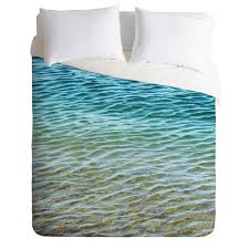 com deny designs shannon clark ombre sea duvet cover queen home kitchen