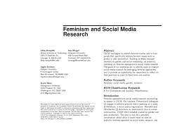 feminism and social media research pdf available
