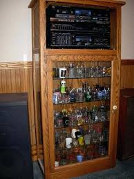 shot glass cabinet display case wall shelves