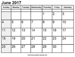 Printable Calendar June 2017 New Calendar Collection 2019
