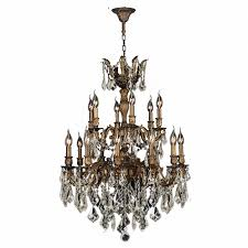 gt versailles 18 light antique bronze finish and golden teak crystal with regard to incredible household bronze chandelier with crystals designs
