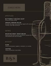 Dark Brown Formal Vintage Dinner Menu Templates By Canva