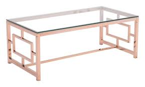 geranium coffee table rose gold