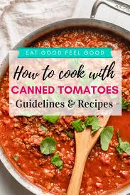 canned tomatoes how to cook with them