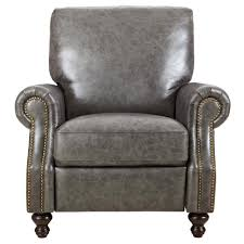 home decorators collection marco grey leather recliner