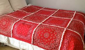 Red Soho Bandana Quilt For Quilt Patterns - Patterns Kid & Red ... Adamdwight.com