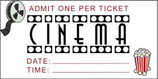 Admit One Ticket Template Free Impressive Cinema Ticket Template Word Onlineemily