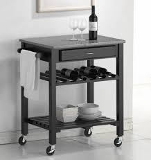 Kitchen Cart Granite Simple Sleek Kitchen Cart Rctangle Granite Top One Drawer Tow