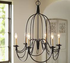 top armonk 6 arm indooroutdoor chandelier pottery barn pertaining to outdoor chandelier lighting decor
