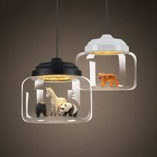 kid room lighting. exellent lighting nordic glass pendant light restaurant bar cafe creative animal models  decorative suspension lamp dining room child to kid room lighting a