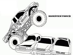 Monster Truck Coloring Pages Printable Color Bros