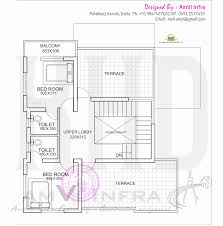 mail floorplan. Free Floor Plan And Elevation Of 1691 Square Feet 4 Bedroom Flat Roof Villa By AmVi Mail Floorplan R