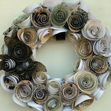 Christmas Paper Flower Wreath Hand Made Paper Rose Wreath By Dyjo Designs Custommade Com
