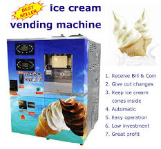 Ice Vending Machine Profit Impressive China Bill And Coin Operated Automatic Vending Soft Ice Cream