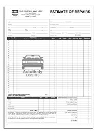 Auto Body Repair Estimate Template Full Auto Body Estimate Repair