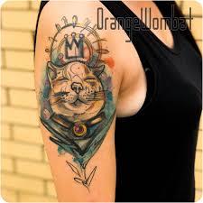 татуировочные скетчинг и акварель