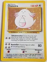 Chaneira 3/102 Base Set Pokemon Karte - EX