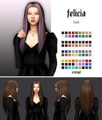 felicia hair | evoxyr on Patreon | Sims hair, Sims 4 mods clothes, Sims 4