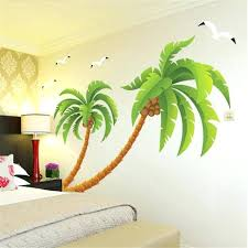 large palm tree wall decal plus large coconut tree wall sticker bedroom living room corner decorative wall stickers home wall art sticker large palm tree