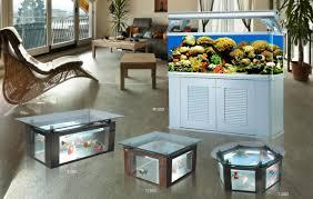 coffee table aquarium fish tank tea view