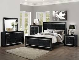 Gray Bedroom Decorating Ideas With Black Dresser With White Trim Design And  Mirror