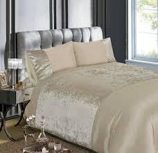 velvet crushed velvet duvet cover set