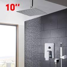 Kemaidi Badewanne Regen Dusche Kopf Poliert Wand Montiert