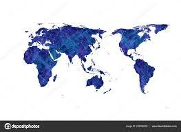 World Map Flat Design Plexus World Map Vector Flat Design Asia In Center Stock