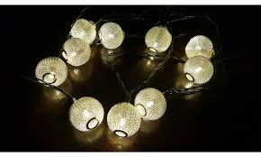 metal mesh 10 led solar string lights