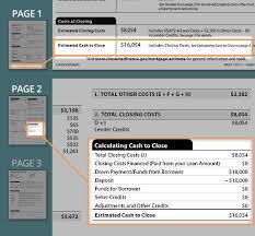 Loan Estimate Guide Calculating Cash To Close