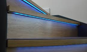 steps led strip lights stairs